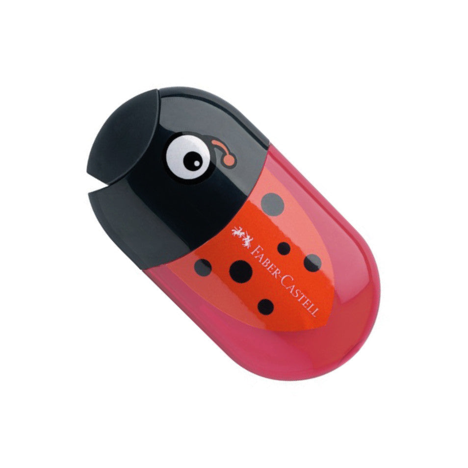 Faber-Castell Double Hole Pencil Sharpener and Eraser - ladybird 183526