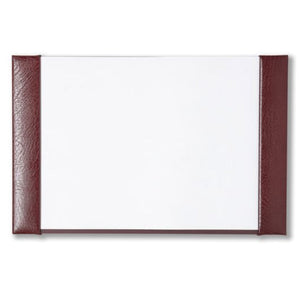 Cathian Leather Half Demy Desk Blotter - Burgundy