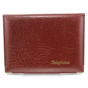 Cathian Leather Address and Telephone Book - Burgandy - Front