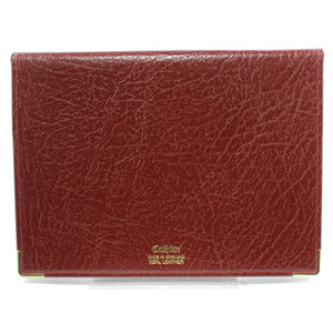 Cathian Leather Address and Telephone Book - Burgandy - Back