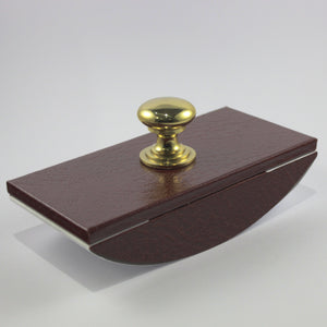 Cathian Leather Rocker Blotter - Burgundy