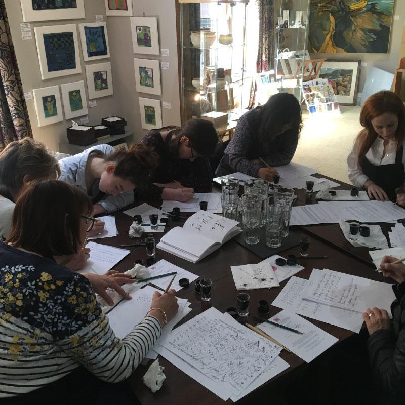 Penfax Calligraphy Workshop in action image 1