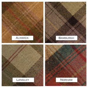 James Sinclair Swatch showing complete range including Alnwick, Bamburgh, Langley and Norham