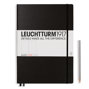 LEUCHTTURM1917 A4+ Master Classic Notebook Black Plain
