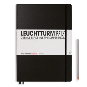 LEUCHTTURM1917 A4+ Master Slim Notebook Black Dotted