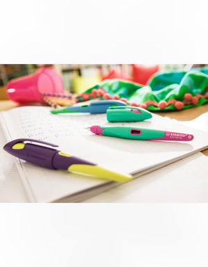 STABILO EASYbirdy Fountain Pen - Turquoise and Neon Pink