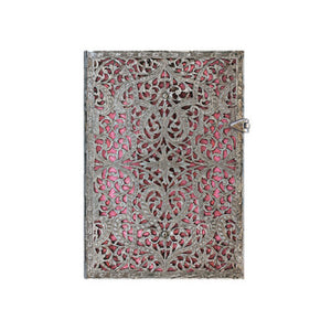 Paperblanks Silver Filigree Journal - Midi Blush Pink