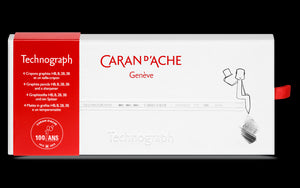 Caran d'Ache 100th Anniversary Technograph Pencil Set and Sharpener - Limited Edition Image 2