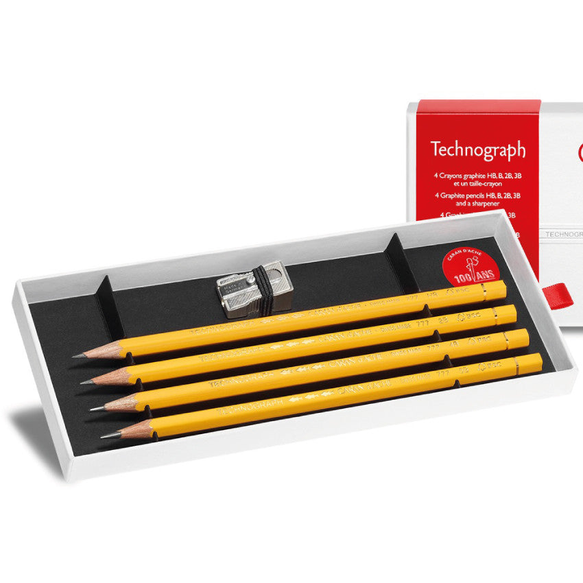 Caran d'Ache 100th Anniversary Technograph Pencil Set and Sharpener - Limited Edition Image 1
