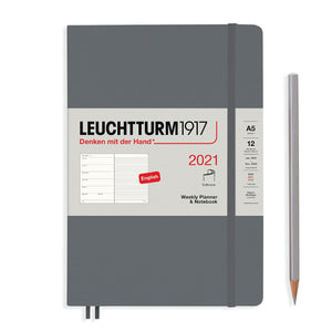 LEUCHTTURM1917 Medium (A5) Weekly Planner and Notebook 2021 (Softcover)