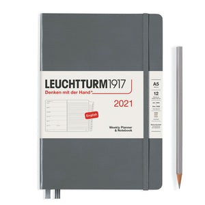 LEUCHTTURM1917 Medium (A5) Weekly Planner and Notebook 2021 (Hardcover)