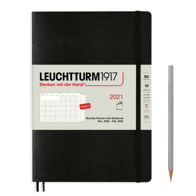 leuchtturm1917 2021 monthly planner with notes