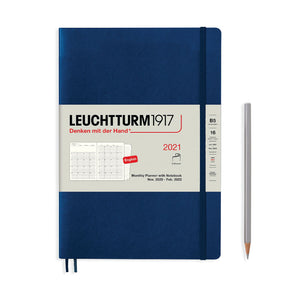 LEUCHTTURM1917 (B5+) Monthly Planner and Notebook 2021