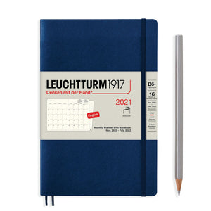 LEUCHTTURM1917 (B6+) Monthly Planner and Notebook 2021- softback