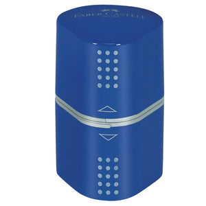 faber castell grip trio sharpener blue