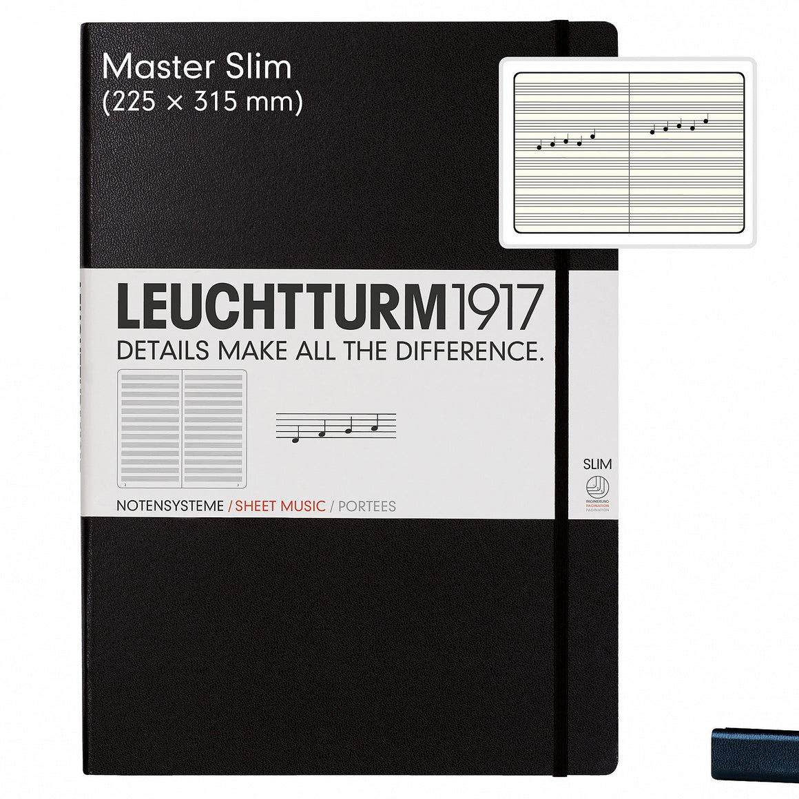 LEUCHTTURM1917 A4+ Master Slim Sheet Music Notebook Cover