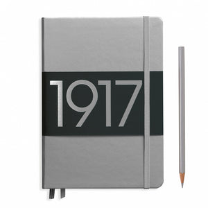LEUCHTTURM1917 Medium (A5) Notebook - 100th Anniversary Silver Image 1