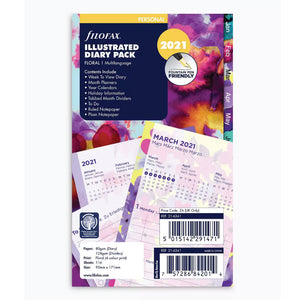 Filofax Personal 2021 Diary Pack - Floral
