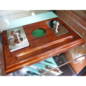 Hardwicke Silver plated rocker blotter and paperweight set