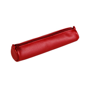 Age Bag Small Leather Cylindrical Pencil Case