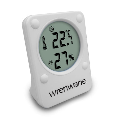 Humidity Monitor Hygrometer Indoor Room Thermometer Fahrenheit Or Celsius White
