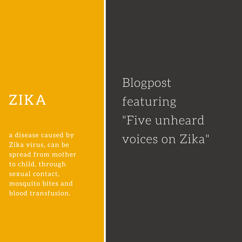 Five (somewhat) unheard voices on Zika and pregnancy