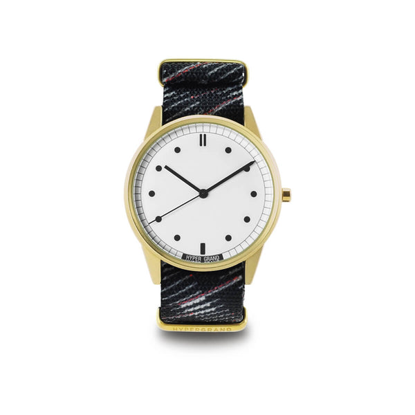 Gold White NATO - quality watches made affordable by HYPERGRAND