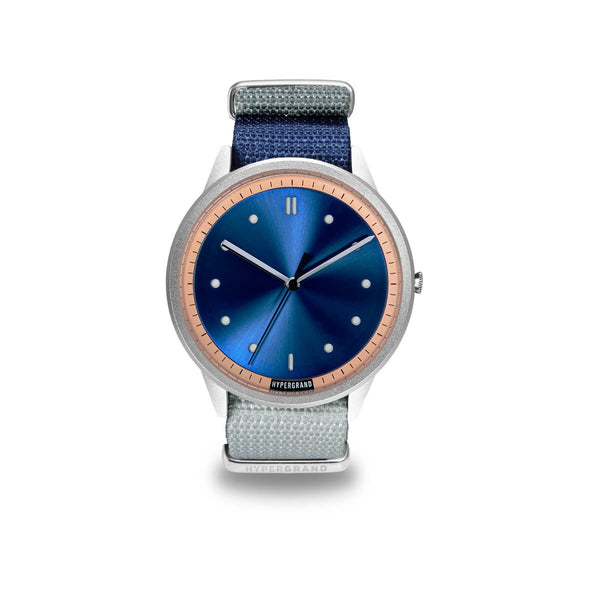 Silver Blue NATO - quality watches made affordable by HYPERGRAND