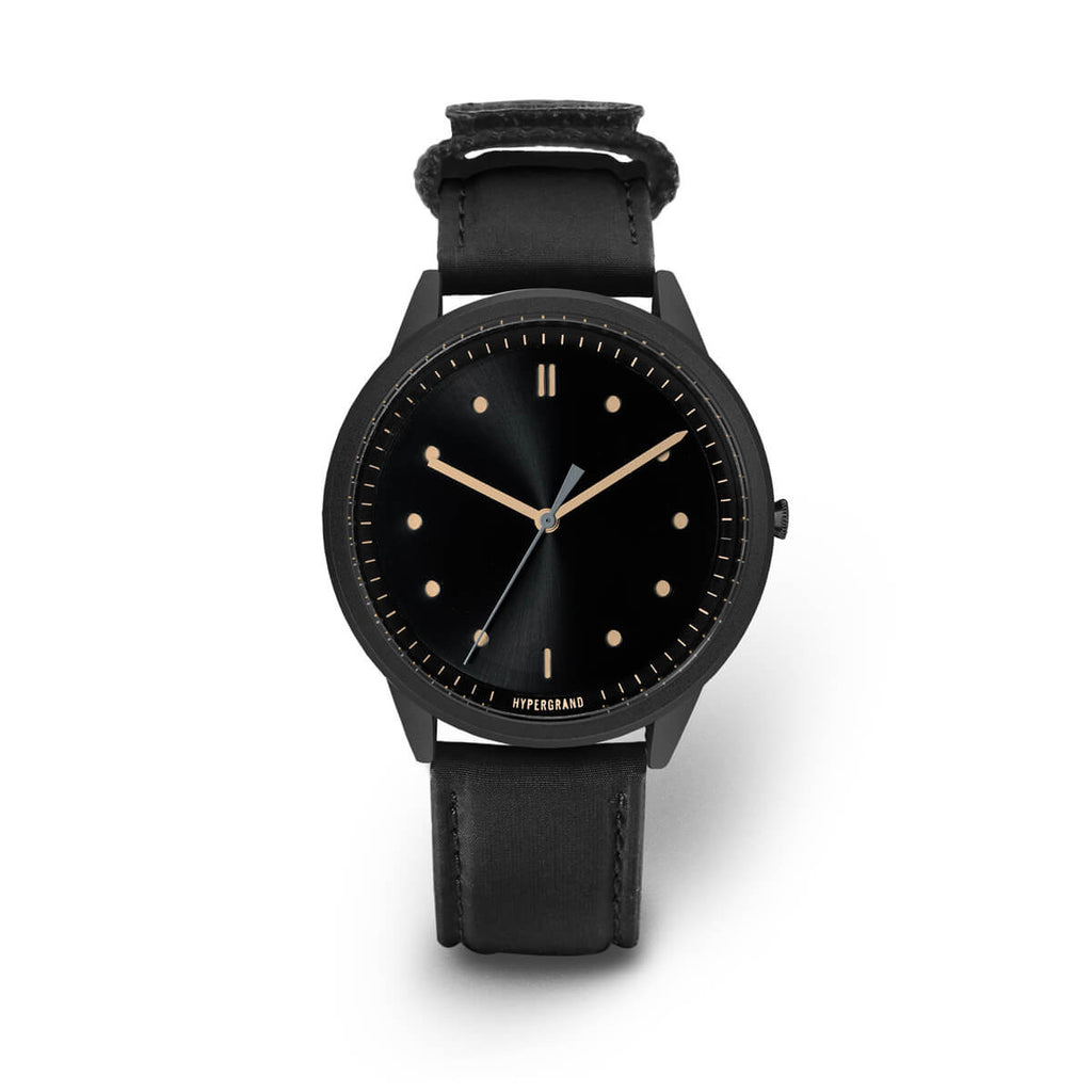 Black Vintage Bomber - quality watches made affordable by HYPERGRAND