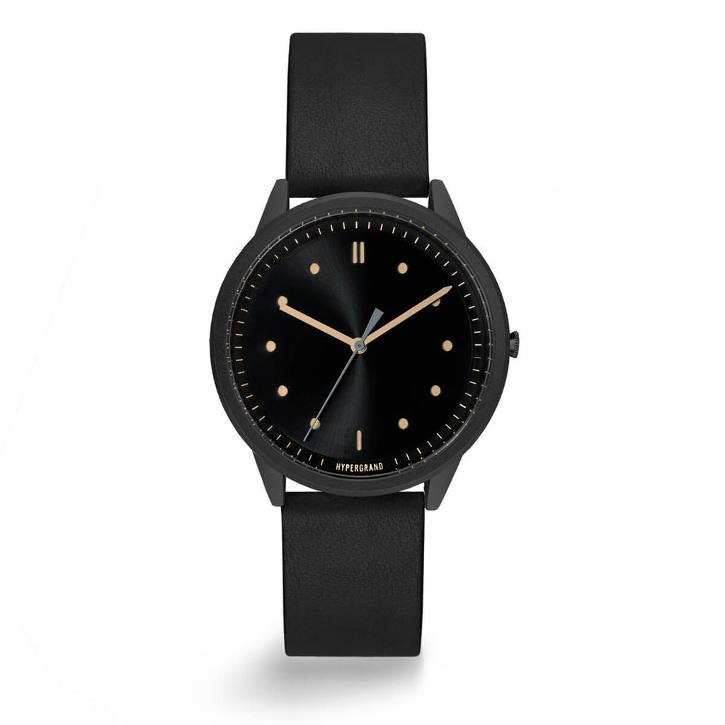 BLACK VINTAGE CLASSIC BLACK - quality watches made affordable by HYPERGRAND