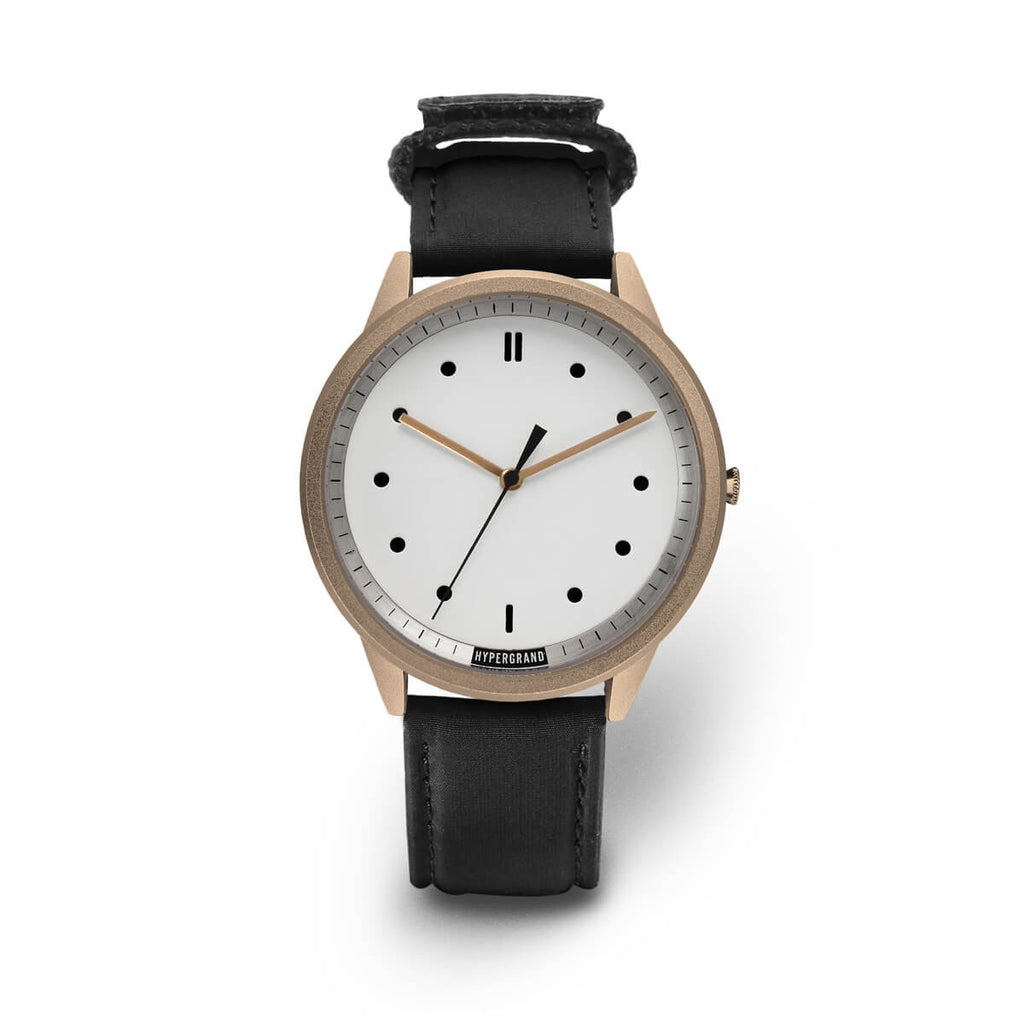 Rose Gold White Bomber - quality watches made affordable by HYPERGRAND