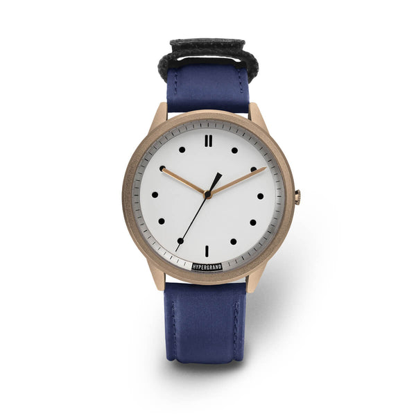ROSE GOLD WHITE BOMBER NAVY - quality watches made affordable by HYPERGRAND