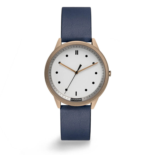 ROSE WHITE CLASSIC NAVY - quality watches made affordable by HYPERGRAND
