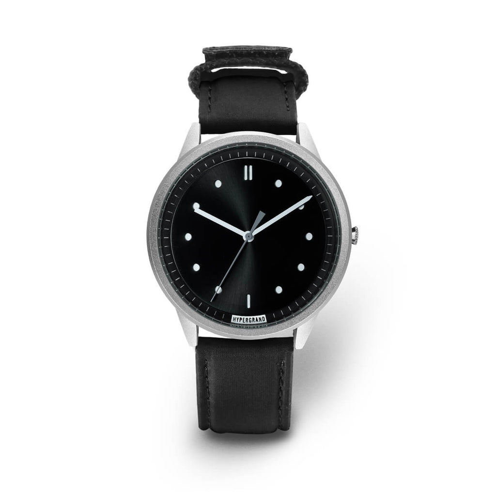SILVER BLACK BOMBER - quality watches made affordable by HYPERGRAND