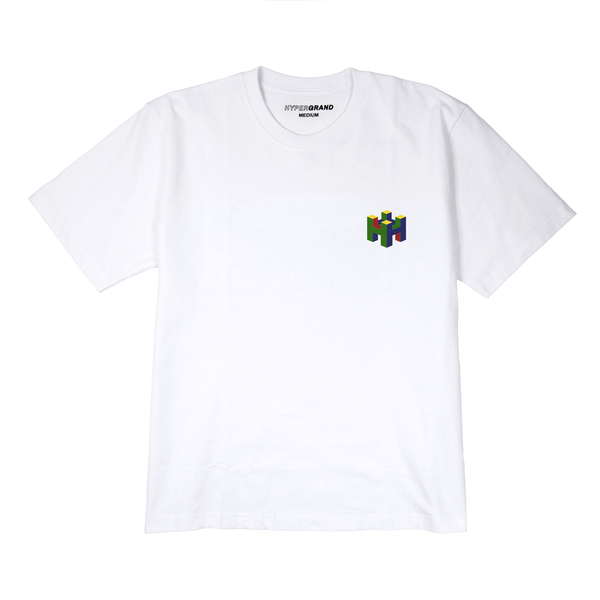 8BIT WHITE SHORT SLEEVE TSHIRT - quality watches made affordable by HYPERGRAND