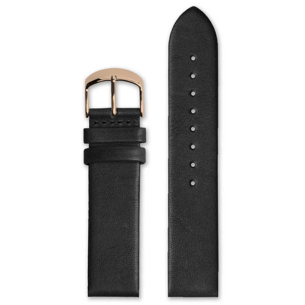 Classic Black Leather Strap | 20mm - quality watches made affordable by HYPERGRAND