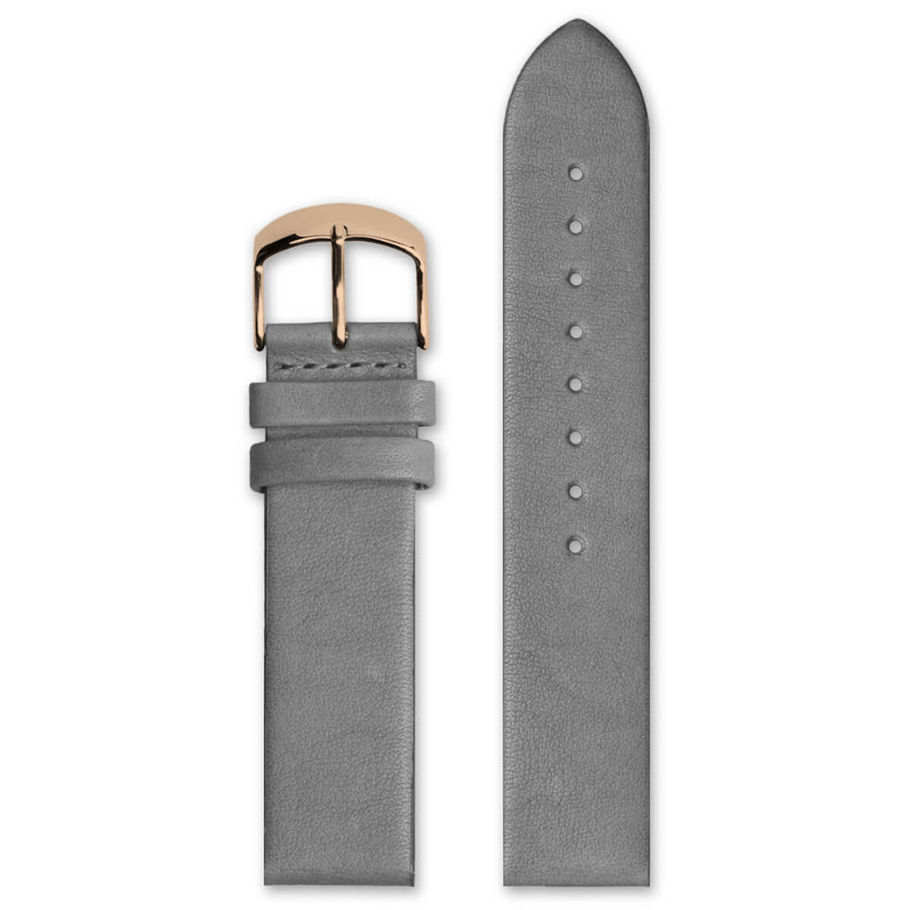 Classic Grey Leather Strap | 20mm - quality watches made affordable by HYPERGRAND