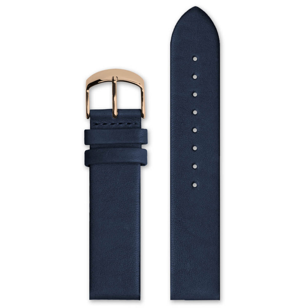 Classic Navy Leather Strap | 20mm - quality watches made affordable by HYPERGRAND