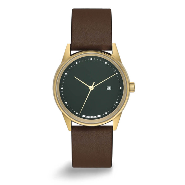 GOLD GREEN CLASSIC BROWN - quality watches made affordable by HYPERGRAND
