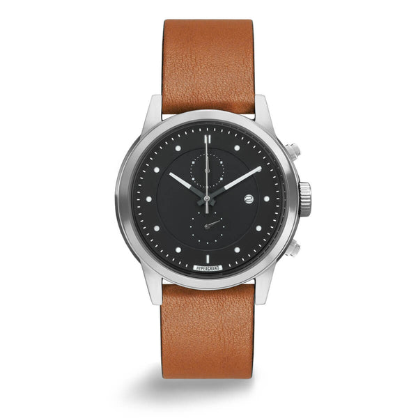 CHRONO SILVER BLACK CLASSIC HONEY - quality watches made affordable by HYPERGRAND