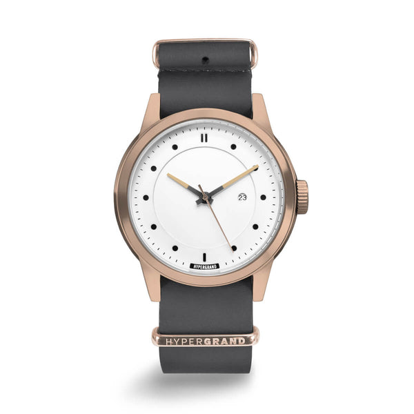 GREY LEATHER NATO - quality watches made affordable by HYPERGRAND