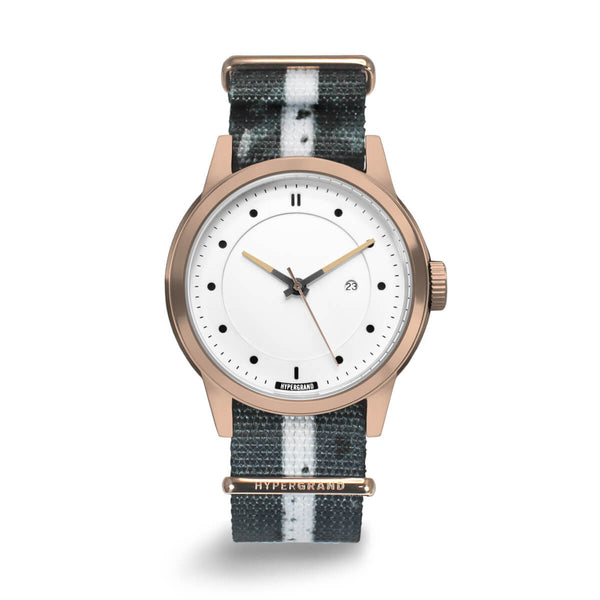 Rose Gold White NATO - quality watches made affordable by HYPERGRAND