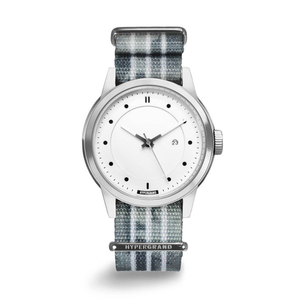 Silver White NATO - quality watches made affordable by HYPERGRAND