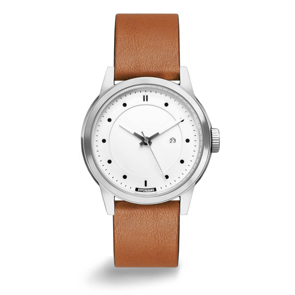 SILVER WHITE CLASSIC HONEY - quality watches made affordable by HYPERGRAND