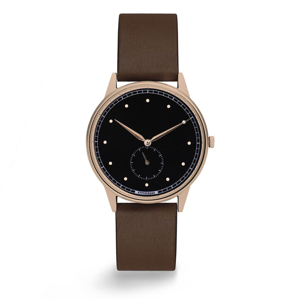 ROSE GOLD BLACK CLASSIC BROWN - quality watches made affordable by HYPERGRAND