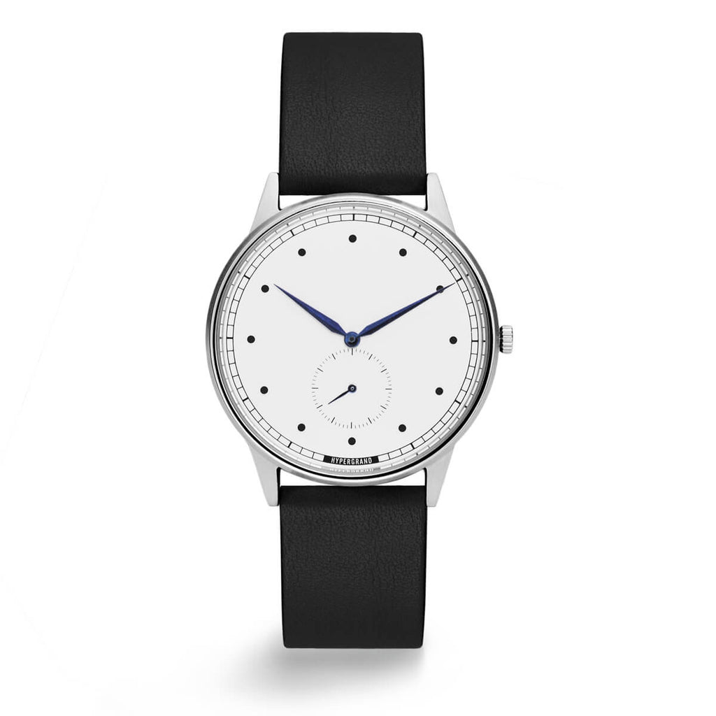 SILVER WHITE CLASSIC BLACK - quality watches made affordable by HYPERGRAND