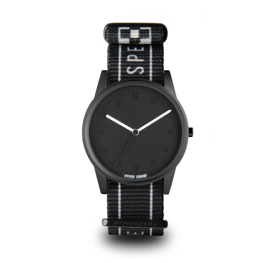 WARP RACE BLACK - quality watches made affordable by HYPERGRAND