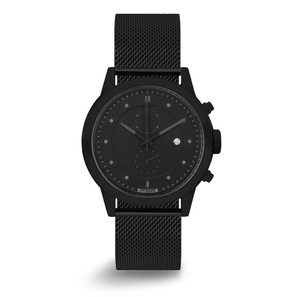 Chrono Blackout Mesh - quality watches made affordable by HYPERGRAND