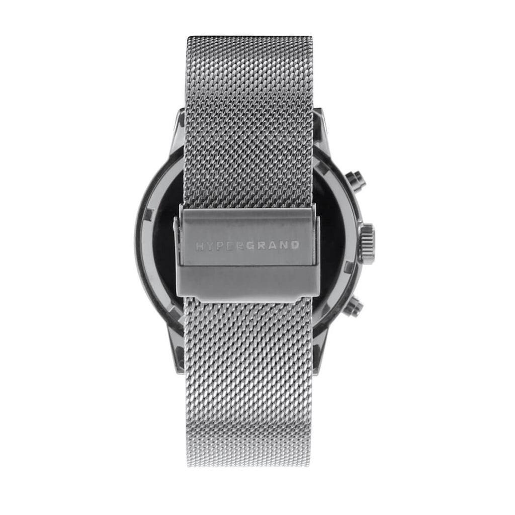 Chrono Silver Black Mesh - quality watches made affordable by HYPERGRAND