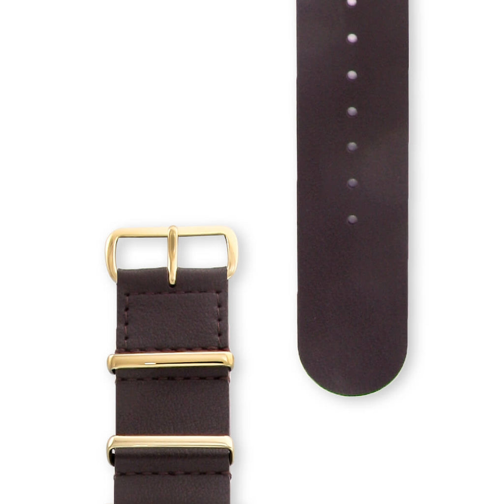 Oak Brown Leather NATO Strap | 22mm - quality watches made affordable by HYPERGRAND